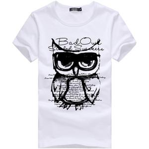 Été Nouveaux Hommes T-shirt Imprimé Casual Coton T-shirt Slim Mâle Manches courtes T-shirt Blanc Plus La Taille M-3XL