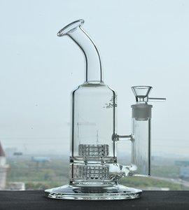 MOBIUS GLAS BONG DAB RIGS GYNAHS Doppel Stereo Matrix Perc schwere Rauch Wasserleitungen Zigarettenzubehör mit 18mm Gelenke 12 Zoll groß