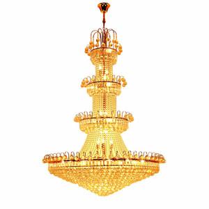 Éclairage moderne Grand hall d'entrée Lustre en cristal Empire français Lustres en cristal Gold Light Lighting Livraison gratuite