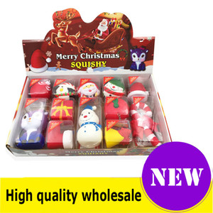 Squishy Christmas style box qualità Jumbo Slow Rising Soft Oversize Phone Spremere giocattoli Ciondolo Anti Stress Kid Cartoon Decompression Toy