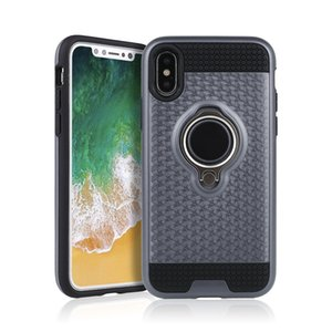 For iphone x case 360 Degree Rotating Hybrid Armor Kickstand Car Phone Holder Magnetic Case Cover for iphone 7 8 plus 6s plus