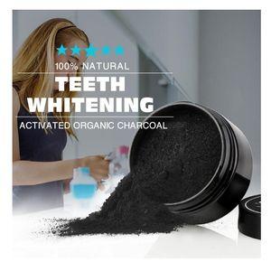Usage quotidien Blanchiment des dents Scaling Powder Oral Hygiène Nettoyage Emballage Premium Activé Dents de Poudre De Charbon De Bambou Blanc