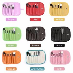 7pcs Makeup Brushes Make Up Brush Set Face Blush Eyeshadow Eye Blending pinceaux de maquillage With PU Bag Packing