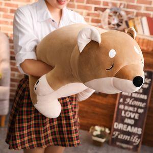 Kawaii Shiba Inu 봉제 인형 장난감 인형 Big Soft Animal Corgi Doll 동반 어린이 잠자리 성인 선물 데코 35inch 90cm DY50485