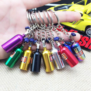 Moda Oto Parçaları Modeli Gökkuşağı Renkleri NOS Şişe Anahtarlık Anahtarlık Araba Anahtarlık Anahtarlık Stash Hap Kutusu Depolama Şişe CCA9352 100 adet