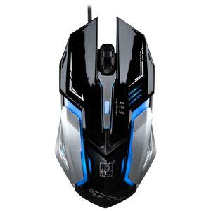 Profesyonel Usb Kablolu Optik Gaming Mouse 4 Düğmeler 1600 DPI Ayarlanabilir 4 Renkler PC Laptop Için Değişken Işıklar Yüksek Kalite Oyun fare K1