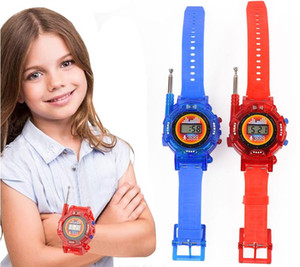 Free Shipping Wholesale-Hot Selling Two Way Radio Walkie Talkie Kids Child Children Wrist Watch Gadget Toy