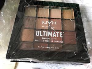 Высочайшее качество!!Никс 16 цветов конечной палитра теней для век мерцание Матовый макияж косметика палитра правильный размер DHL доставка