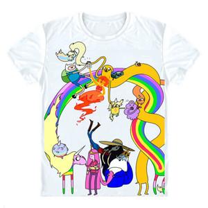 Adventure Time Islands T-shirts Chemises à manches courtes Anime Adventure Time avec Finn Jake Finn l'humain Jake le chien Cosplay Shirt