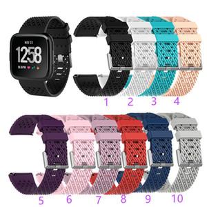 banda di silicone traspirante Per Fitbit Versa 2/1 / Lite Strap bande smart watch TPU polsino del braccialetto del cinturino design unico