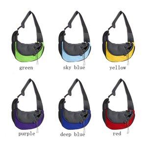 العلامة التجارية الجديدة متعددة الألوان المحمولة تنفس الحيوانات الأليفة جرو الكلب القط الراحة سفر حمل حقيبة الكتف الرافعة على ظهره