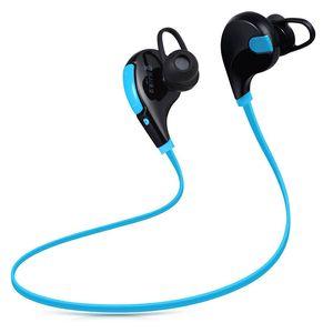 QY7 سماعات لاسلكية سماعات بلوتوث Neckband إلغاء الضوضاء ستيريو الرياضة الجري سماعة الهاتف الذكي العالمي مع صندوق البيع بالتجزئة