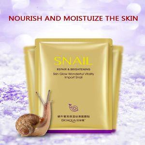DHL free Bioaqua snail luxury pet hydrating rejuvenation invisible mask moisturizing slippery oil balance shrink pores beauty mask