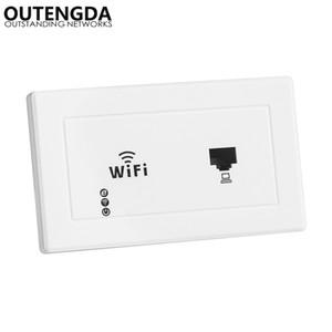 300 MBit / s 118/120 In-Wall Wireless AP für Hotelzimmer-Büroräume USB-Ladeschnittstelle Access Point-Buchse WLAN-Extender-Router