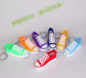 Keychain scarpe di tela di metallo modello Flame Butane Lighter No Gas sigaretta fumatori accendini accendini 7 colori