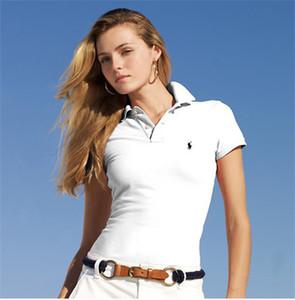 Sommer neue europäische und amerikanische Marke Casual Kurzarm T-Shirt Revers Damenmode Stickerei Baumwolle Polo-Shirt