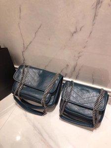 2018 New Arrival Women chain Handbags Elegant shoulder bag Fashion Contrast Colour High Quality Shoulder Bags crossbody two free shipping