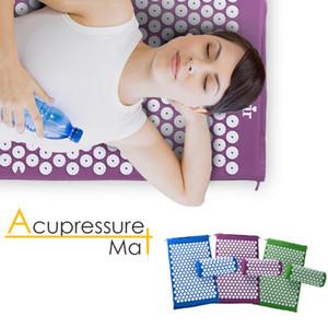 Массажер подушка Шакти мат точечный массаж облегчить боль в спине тело Спайк мат иглоукалывание массаж йога коврик с подушкой