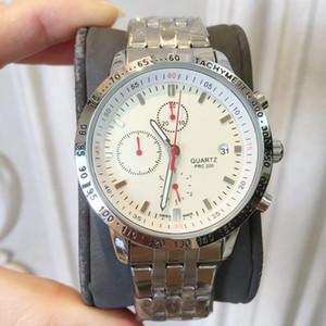 2019 우아한 새겨진 럭셔리 망 시계 쿼츠 스테인레스 스틸 패션 새로운 남성 손목 시계 레저 스포츠 시계 유명한 1853 고품질