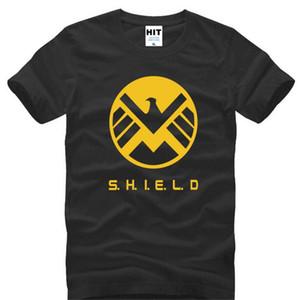 Agents de S.H.I.E.L.D. SHIELD Eagle Imprimé T Shirt Hommes D'été À Manches Courtes O-cou Coton Hommes T-Shirt Hommes Top Tee Fans Vêtements