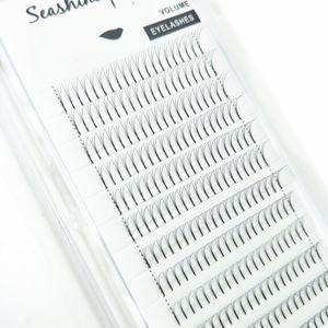 Seashine En kaliteli 3D Hacim Premade Hayranları için Bireysel Yanlış Kirpik Uzantıları güzellik 100% el yapımı Kore ipek lashes ücretsiz kargo