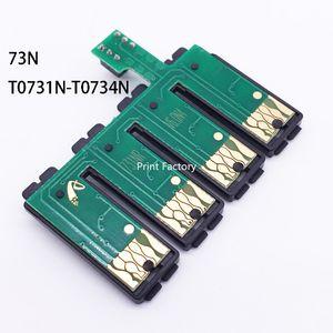 73N T0731N-T0734N Reconfigurar CISS Combo Chip Para Epson TX100 TX101 TX200 TX209 TX110 TX200 TX121 C79 CX8300 CX5500