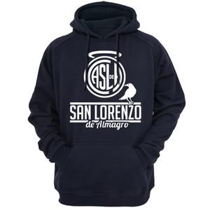 Argentinien San Lorenzo Krähe Hoodies Sweatshirts San Lorenzo Club Casual Bekleidung Kapuzen Hoody Frühling Herbst Saison Oberbekleidung 130