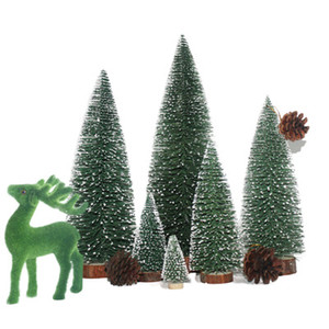 Mini Christmas Tree Weihnachtsdekoration Weihnachten Desktop Dekor Kleine Weihnachtsbaum White Cedar besondere Dekorationen für zu Hause