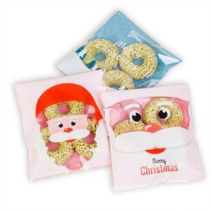 Christmas biscuits BAG 100pcs lot cartoon christmas gift bag self sealed bag cookies packaging dessert package 10*11cm