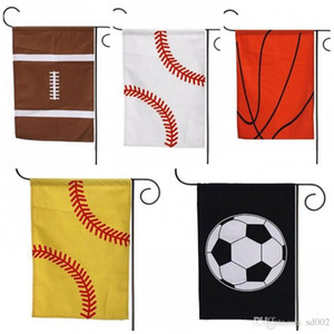 35 * 45 cm Toile Drapeau Américain Sports Baseball Softaball Football Drapeaux De Jardin Rectangle Suspendus Carry Pratique Banner Populaire 7 5yh dd