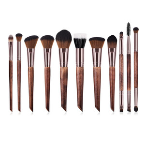 11pcs set Makeup Brushes Set Professional Facial Cosmetic Tools Set Kit Eyeshadow Eyelash Eyebrow Blush Concealer Brushes Set T11007