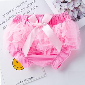 Infant Baby Girls Summer Princess lace PP pants Baby Bloomers Toddler Cotton Silk Bow Skirt Shorts Infant Diaper Cover Underwear