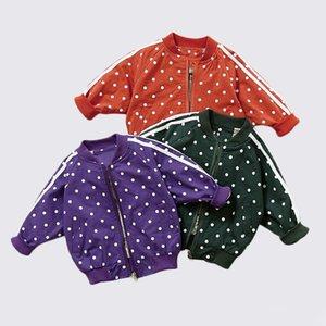 Babyinstar Baby Kleidung Mädchen Jungen Jacken Mäntel 2018 Polka Dot Kleinkind Kinder Jacke Outwear Baseball Mäntel Kinderkleidung