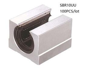 100 pz / lotto SBR10UU SME10UU 10mm tipo aperto unità lineare unità blocco lineare blocchi di supporto per router cnc parti della stampante 3d