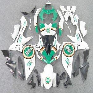 Farben + Geschenke Spritzguss ABS Glück grün weiß Verkleidung für Yamaha YZFR1 2007 2008 YZF-R1 07 08 YZF R1 Aftermarket Karosserie Kunststoff-Kit