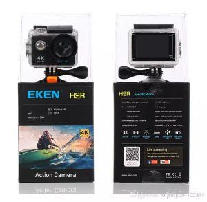 """100٪ الأصلي eken h9 h9r عمل كاميرا ultra hd 4 كيلو / 25fps wifi 2.0 """"170D كاميرا تحت الماء ماء كاميرا خوذة كاميرا رياضية كاميرا"""