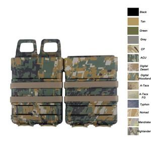 Táctica Airsoft caza FAST MAG Chaleco Caja de accesorios FAST Magazine Juego de fundas Molle Mag Clip 5.56 Fast Mag Magazine Pouch SO06-102