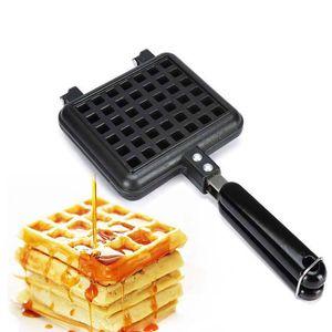 Waffle Mold DIY Manual Waffle Makers para niños Cake Mold Bakeware Set Family uso de la herramienta de hornear antiadherente QW7162