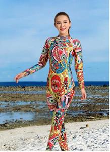 Costume de plongée femme vêtements de surf chaud à manches longues siamois écran solaire national imperméable costume de plongée en apnée