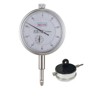 FJS 0-10 0.01mm Dial Indicator With Lug Back Precision Measurement Gauge Micrometer Measuring Tools