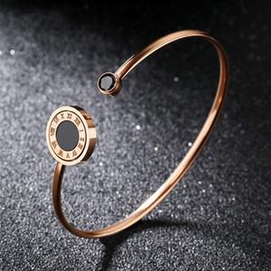 Rose Gold Cor Moda Simples Amante Gemstone Pulseira De Aço Inoxidável Pulseira Pulseira Jóias Presente para Senhora Mulheres 892