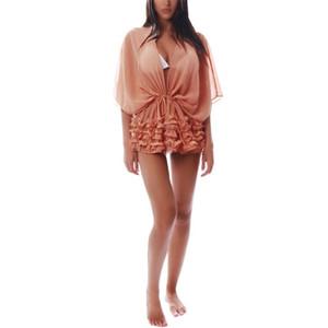 YSMARKET женщины блузка сексуальные кружева крючком Batwing рукав Boho случайный пляж прикрыть блузки рубашки топы дешевую одежду фарфора Y1220