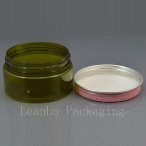 100 g (50pc / lot) Jar Cream, con rosa / oro / blanco jarra tapa de muestra, 100g pequeña botella de plástico