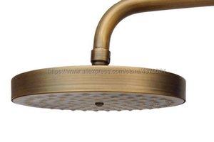 Cabezal de ducha redondo antiguo Llantas de agua de latón con ducha Set de baño Spray superior NSH005