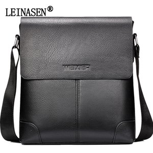 Soft 2018 Men Leather Crossbody LEINASEN Solid Bag Men's Messenger Shoulder Business Bags Vintage Bags Leather Casual Wmxdq