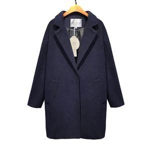 2018 Hot sale Cocoon coat women coat female overcoat female spring autumn slim blend woolen woolen outerwear casaco winter