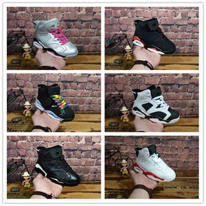 nike air jordan aj6 11 Kinderschuhe Basketball-Schuhe Wholesale neue 1 Raummarmelade 6 11s Sneakers Babykinder Sport laufende Mädchen Jungen-Trainerschuhe 28-35