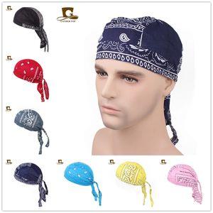 Frauen Männer Baumwolle Skull Caps Paisley Bandanas Headwear Unisex Fahrrad Radfahren Hut Durag tun Lappen Cap Amöbe Pirat Fahrrad Hut Haar Zubehör