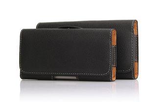 Clip di cuoio della cassa di cuoio nera di nuovo arrivo per i telefoni delle cellule 5.5inch iPhone 6 5 4 casi del telefono di Samsung Note3 20pcs