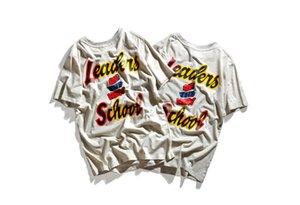 New School Casual Tees Casual Retro Tops Yeni Erkek Yaz Tshirts Erkek Lider